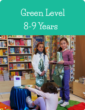 Green Age Level at Jazzitup Kids English Language Course